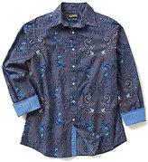 Daniel Cremieux Jeans Long-Sleeve Paisley Woven Shirt