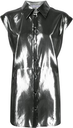Acne Studios Metallized Cap-Sleeves Shirt