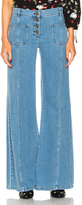 Chloé Stretch High Waisted Jeans in Blue.