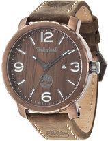Timberland Men's Pinkerton Brown Leather Strap Watch 50x56mm TBL14399XSBN12