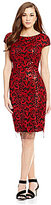 Antonio Melani Milo Cap Sleeve Sequin Mesh Sheath Dress