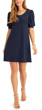 MSK Petite Puff-Sleeve Sheath Dress