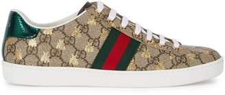 Gucci New Ace GG Supreme Bee-print Sneakers
