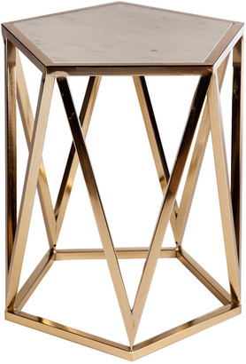 Statements By J Charlyn Marble Top Side Table