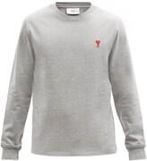 Thumbnail for your product : Ami De Cur-logo Cotton-jersey T-shirt - Grey