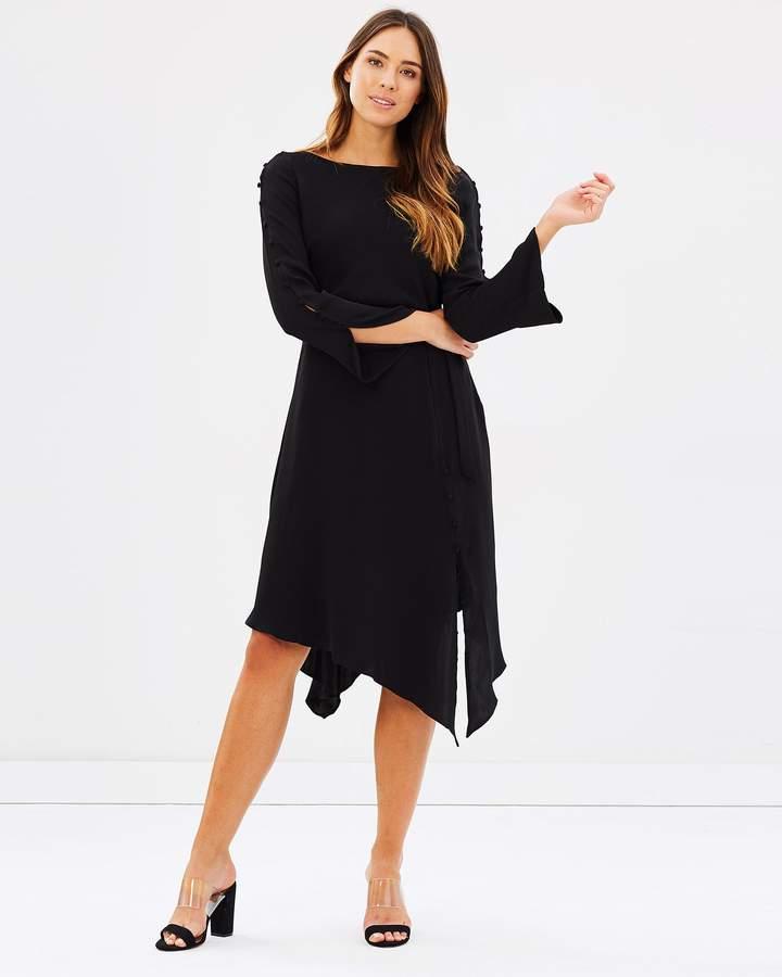 Karen Millen Asymmetric Cut-Out Midi Dress