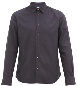 Paul Smith Beetle-button Modal-blend Shirt - Mens - Navy