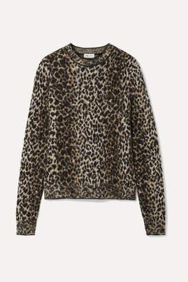 Saint Laurent Leopard-print Jacquard-knit Sweater - Leopard print