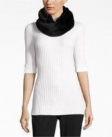 Calvin Klein Faux-Fur Infinity Loop