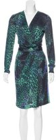 Emilio Pucci Wool Cheetah Print Dress