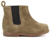 Pom D'Api Suede Elastic Zip Nioupi Boots