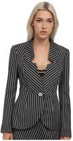 Vivienne Westwood Striped No Collar Blazer