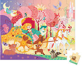 """Janod Princess And The Coach"""" Puzzle & Suitcase"""