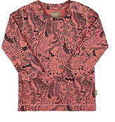 kidscase Abstract-Print Cotton T-Shirt-RED