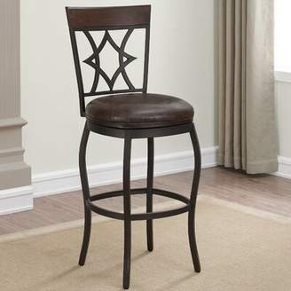 "Buchanan Bar & Counter Swivel Stool with Cushion Darby Home Co Seat Height: Bar Stool (30"" Seat Height)"
