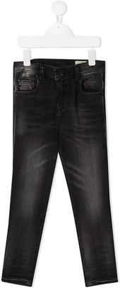 Diesel Black Wash Straight Leg Jeans