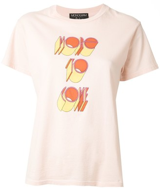 Monogram More To Come slogan T-shirt