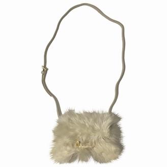 Saint Laurent Lulu Ecru Fur Handbags