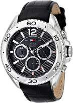 Tommy Hilfiger Men's 1791029 Stainless Steel Watch with Leather Band