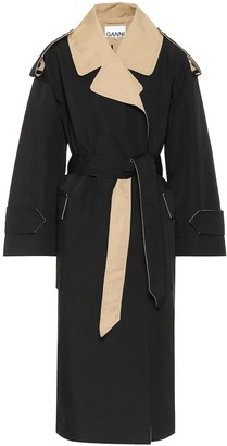 Ganni Cotton-blend trench coat