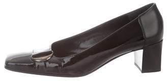 Bruno Magli Patent Leather Square-Toe Pumps
