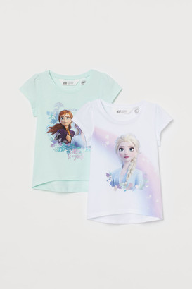 H&M 2-Pack Printed Jersey Tops