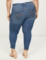 Lane Bryant Seven7 Skinny Jean - Medium Wash With Rainbow Embroidery
