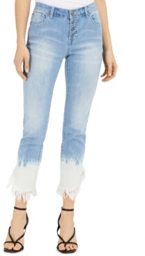 INC International Concepts Inc Tie-Dyed Angled-Hem Mop Jeans, Created for Macy's