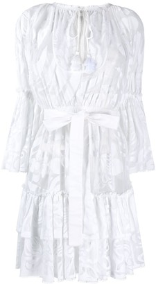 Emilio Pucci floral mesh short dress