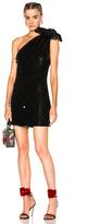 Ashish Sequin Shoulder Bow Dress in Black.