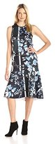 Clover Canyon Sportswear Women's Fall Leaves Neoprene Dress
