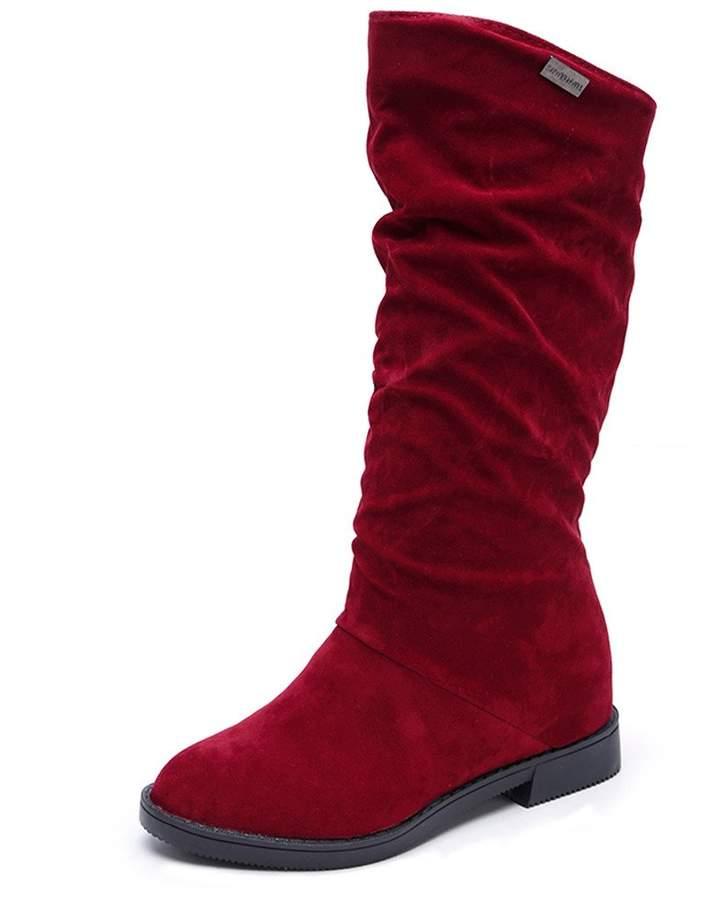 b7ddf162008f2 Leewos-Women Shoes Hot New! Women Winter Boots,Fashion Stylish Flat Flock  Shoes Snow Knee High Boot