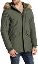 Ben Sherman Faux Fur Hooded Front Zip Jacket