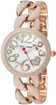 Betsey Johnson Women's Quartz Metal and Alloy Automatic Watch, Color:Pink (Model: BJ00329-06)