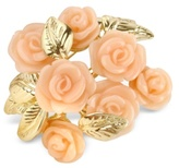 AZ Collection Pink Roses Gold Plated Brooch