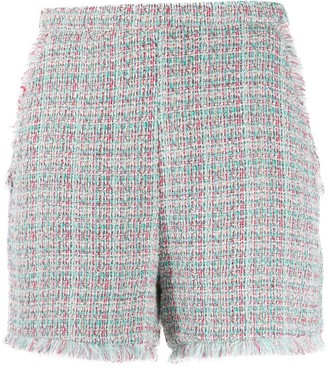 Pinko Raw Edge Boucle Shorts