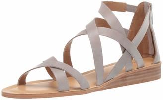 Lucky Brand Lucky Women's Helenka HIGH Heel Wedge Sandal Chinchilla 12 M US