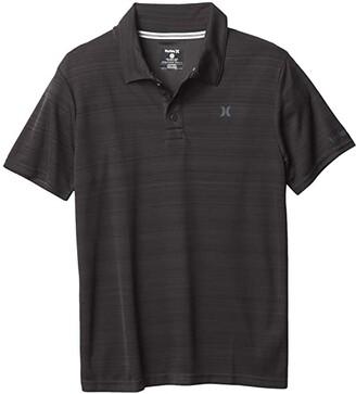 Hurley Dri-Fit Polo Shirt (Big Kids) (Black Heather) Boy's Clothing