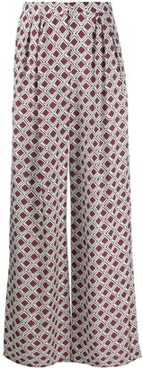 Christian Wijnants Mosaic Print Straight-Leg Trousers