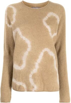 Suzusan Tie Dye-Print Cashmere Jumper
