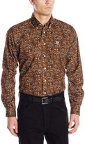 Cinch Men's Classic Fit Long Sleeve Button Down Paisley Print