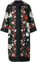 Dolce & Gabbana rose print brocade coat