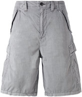 Armani Jeans logo patch cargo shorts