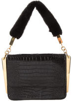 Giuseppe Zanotti Mink & Embossed Leather Handle Bag