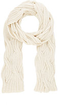 Barneys New York WOMEN'S CABLE-KNIT SCARF-TAN