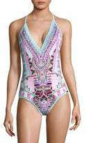 Camilla One-Piece Crochet Edge Swimsuit