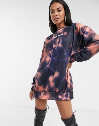 New Girl Order tie-dye logo sweater dress