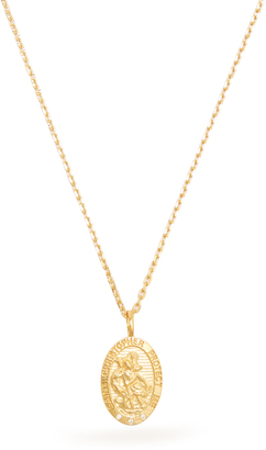THEODORA WARRE Zircon and gold-plated necklace