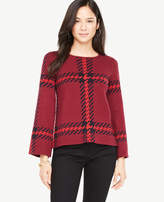 Ann Taylor Petite Plaid Bell Sleeve Sweater