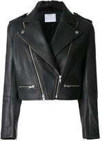 Dion Lee leather biker jacket - women - Calf Leather - 6